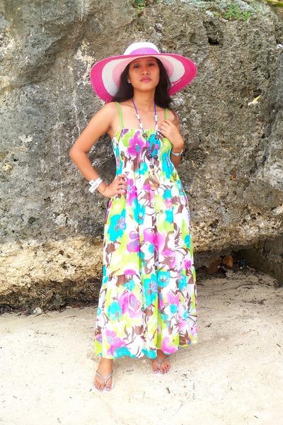 summer dress - hat - native accessories - flip-flop Havaianas flats 056da27e0bb