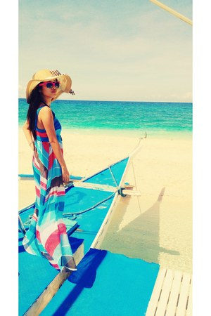 camel floppy hat - turquoise blue xhilaration swimwear
