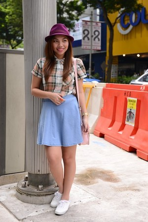 Topshop top - Keds shoes - Uniqlo hat