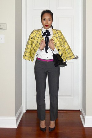 YSL shoes - Target jacket - H&M shirt - Chanel bag - JCrew belt - Theory pants