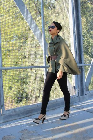 diy cap jacket - YSL shoes - Forever 21 pants