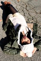 H&M jacket - JCrew tights - JCrew sweater - Gryphon New York shorts - Aldo shoes