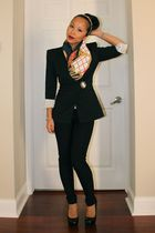 Express blazer - Forever 21 pants - YSL shoes - Zara scarf