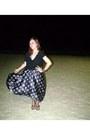 Silk-dress-cropped-shirt-flip-flops-sandals