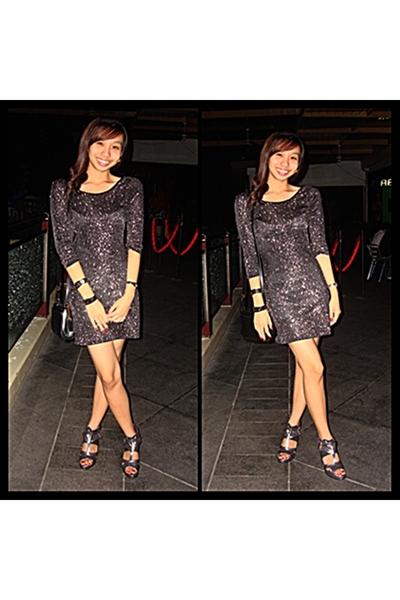 Love Culture dress - silver Trunkshow shoes