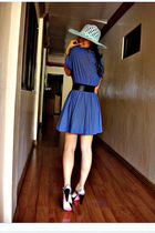 blue Mango dress - silver payless shoes