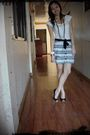 White-zara-shirt-white-charlotte-russe-skirt-black-rue-21-shoes