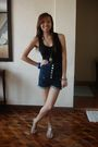 Black-zara-top-blue-topshop-shorts-gray-steve-madden-shoes-black-marc-by-m