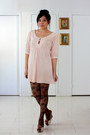 Light-pink-asos-dress-brown-floral-forever-21-tights