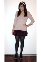 H&M top - Juicy Couture skirt - Target tights - Steve Madden heels - Goody acces