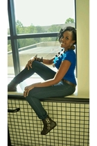 gojanecom shirt - Sirens jeans - Target belt - gojanecom boots