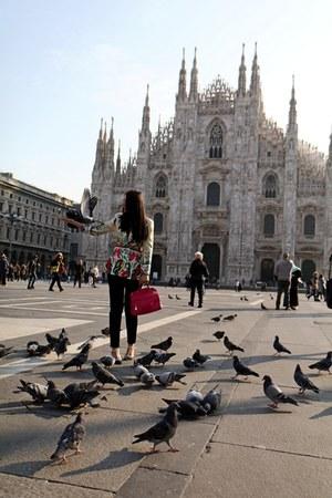 lana dumitru blazer - Furla bag - Valentino heels