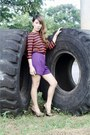 Amethyst-forever21-shorts-tawny-vintage-top
