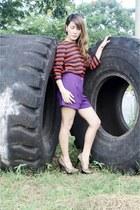tawny vintage top - amethyst Forever21 shorts
