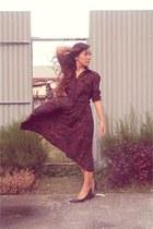brick red vintage dress