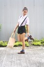 Dark-brown-giordano-shoes-black-forever-21-shorts-light-pink-mossimo-top