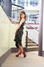 Vintage-long-floral-dress