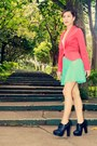 Black-primadonna-boots-hot-pink-apartment-blazer-aquamarine-forever-21-skirt