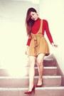 Zara-red-turtle-neck-top-forever21-mustard-jumper