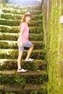 Eggshell-so-fab-shoes-sky-blue-forever-21-leggings-orange-gap-t-shirt