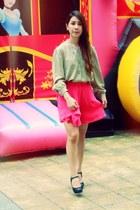 HK Vintage top - Zara shorts skirt