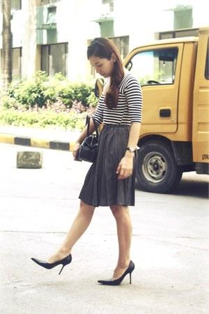 celestina crocodile skin bag - Handpicked skirt - my closet top