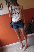 hat - shirt - shoes - abercrombie and fitch shorts - Polo purse - belt