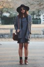 Charcoal-gray-thrifted-dress-black-wide-brim-free-people-hat