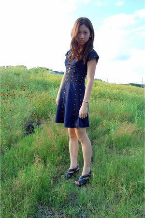 blue zac posen x target dress - black Clarks shoes