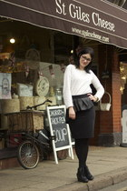 Zara skirt - River Island boots - Zara jumper