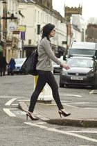 Zara jacket - Topshop jeans - Zara heels