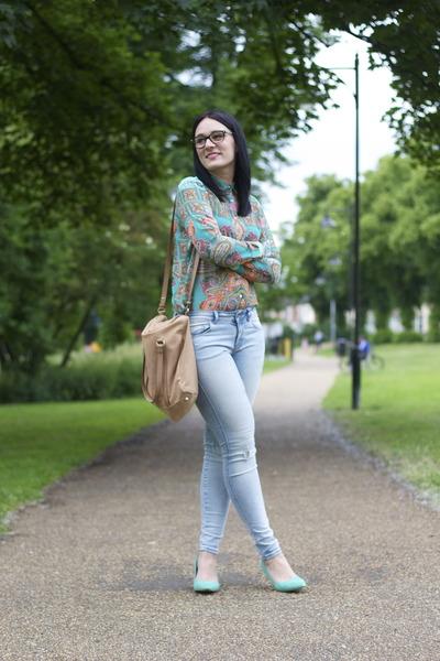 Zara shirt - Zara jeans - Zara bag - H&M heels