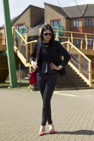 Zara top - Topshop jeans - Zara jacket