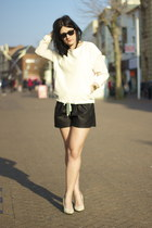 Zara shorts - H&M shoes - Zara jumper