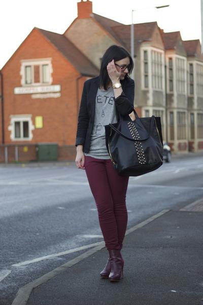 Zara jacket - H&M boots - H&M jeans - Zara bag - Zara t-shirt