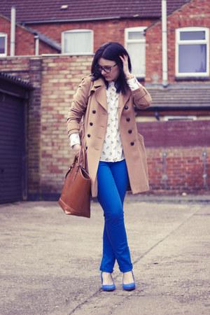 Zara shirt - H&M shoes - H&M coat - Vero Moda jeans - Zara bag