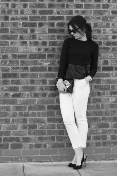 Zara pants - Zara top - Zara heels