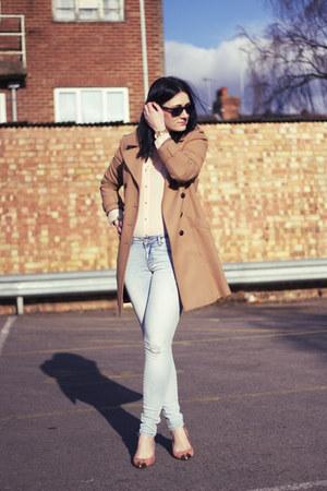 Zara jeans - H&M coat - Zara shirt - Zara heels