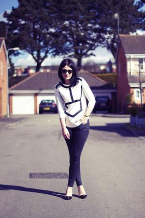 Zara top - Topshop jeans - Zara heels