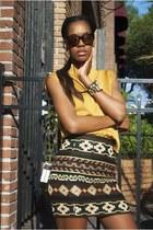 crimson tribal skirt Zara skirt