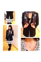 black American Apparel blazer - silver cotton Anthropologie dress