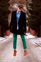 desert boots H&M boots - jeans shirt Esprit shirt - dotted socks H&M socks