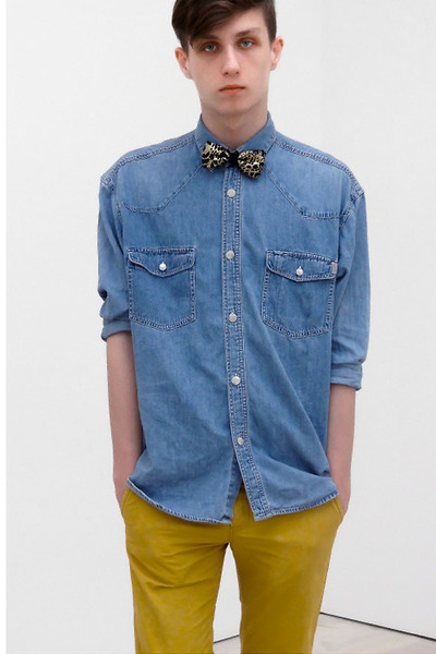 "Men's Jeans Esprit Shirts, Yellow Chinos H&M Pants | ""Golden ..."