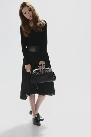black taobaocom bag - black taobaocom dress - black taobaocom shoes