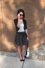 Black-zara-skirt-cream-bally-bag-dark-brown-rayban-sunglasses