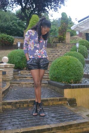Zara sandals - floral print Primark jumper
