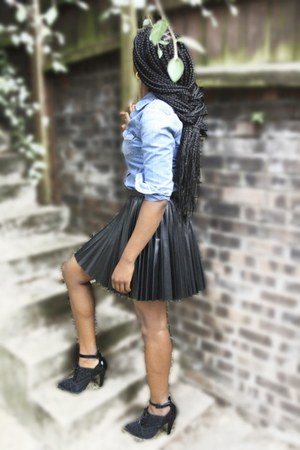 denim shirt H&M shirt - H&M skirt