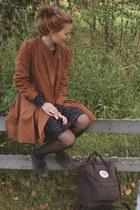 black muija Marimekko dress - brown girly 2hand coat