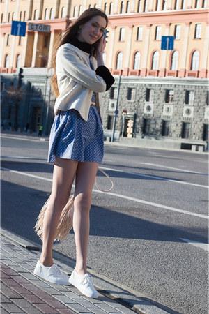 violet idaLaida dress - off white idaLaida jacket - eggshell H&M bag