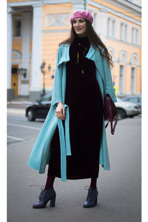 crimson idaLaida dress - turquoise blue idaLaida coat